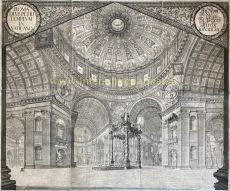St. Peter's Basilica interior  by  Johann Ulrich Kraus after Johann Andreas Graff