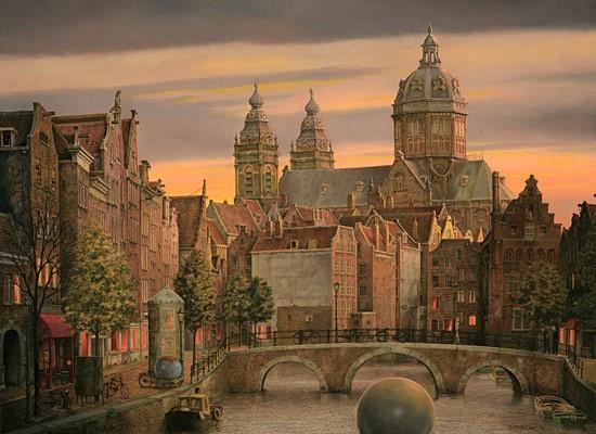 Amsterdam s'éveille by Theo Voorzaat