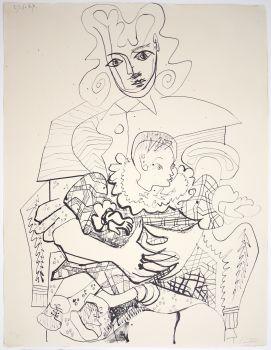Ines et son Enfant by Pablo Picasso