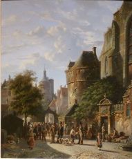 A Dutch Town by Adrianus Eversen