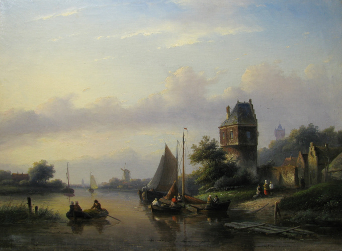 A summer evening by Jan Jacob Spohler