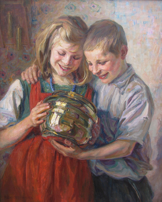 Funny view in a copper jar by Richard Reimans