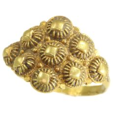 Dutch gold antique ring from Schoonhoven 18th Century by Unknown Artist