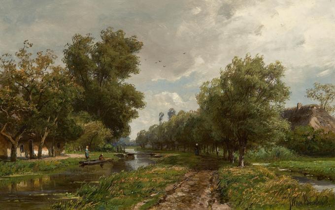 Dutch landscape by Jan Willem van Borselen