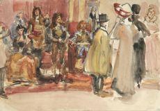 Spectators of a Tableau vivant