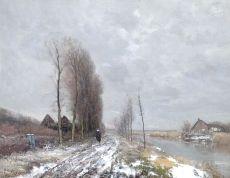 A winter landscape, Holland by Louis Apol