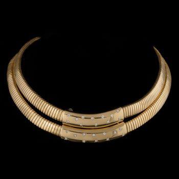 Double tubogas necklace by Péry et Fils .