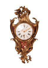 A French Louis XV ormolu 'cartel d'alcove', wall clock, Etienne Dechamp Paris, circa 1750 by Et. Dechamp A paris