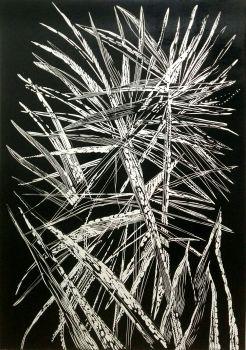 Black leaves VII by Magdalena Chmielek