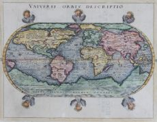 DELIGHTFUL 16TH CENTURY WORLD MAP   by Unknown Artist