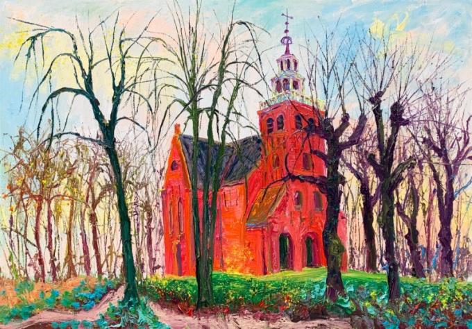 petruskerk pieterburen  by Gertjan Scholte-Albers