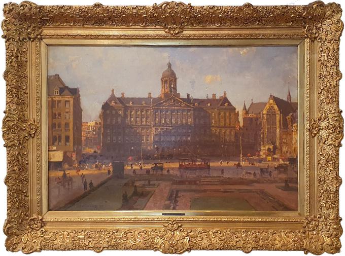 The Royal Palace And The Nieuwe Kerk On Dam Square, Amsterdam by Cornelis Vreedenburgh