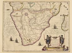Southern Africa map by Blaeu, Joan