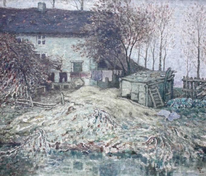 The back garden by William Degouve de Nuncques