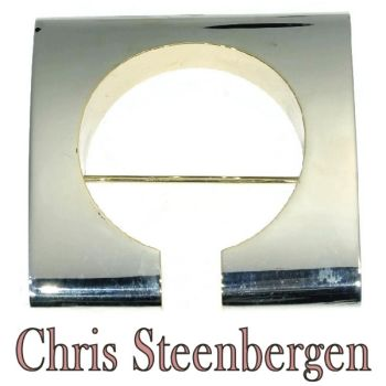 Artist Jewelry by Chris Steenbergen silver and gold brooche by Unknown Artist
