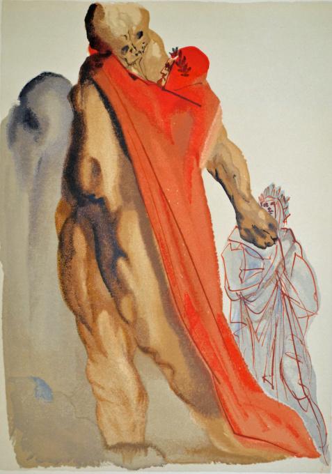 Divina commedia purgatorio 05 by Salvador Dali