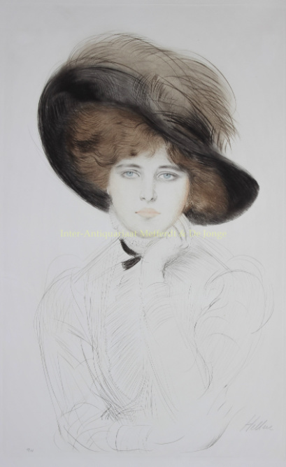 Lady with hat by Paul-Cesar Helleu