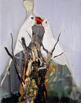 'Droomflard 13, De witte Vogels' by Siebrand Weitenberg