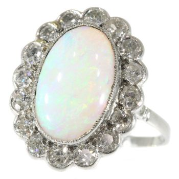 Vintage diamond opal engagement ring by Unknown Artist