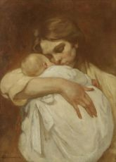 Mother and child by Hendrik J. Haverman