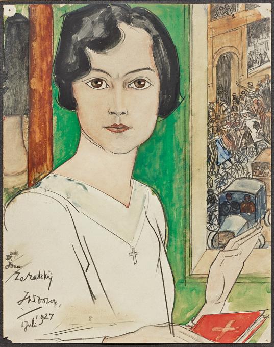 Portrait Isna Zaratsky by Jan Toorop