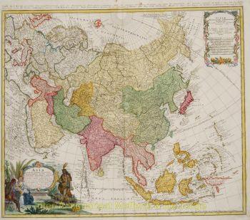 Asia map  by  Homann