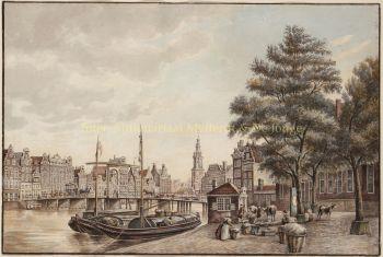 Amsterdam trekschuiten op de Binnen Amstel, naar Jan de Beijer by  Jan de Beijer