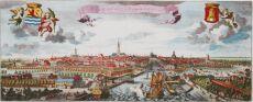 Panorama van Middelburg uit de Nieuwe Cronyk van Zeeland by Smallegange, Mattheus