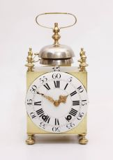 An early and large French brass Capucine travel clock by Bechet A Lyon, circa 1770 by Bechet A Lyon