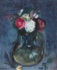 Flower Still-Life in A Glass Vase by Charles Camoin