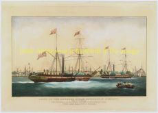 HAVENGEZICHT ROTTERDAM  SHIPS OF THE GENERAL STEAM NAVIGATION COMPANY, OFF ROTTERDAM by Duncan, Edward