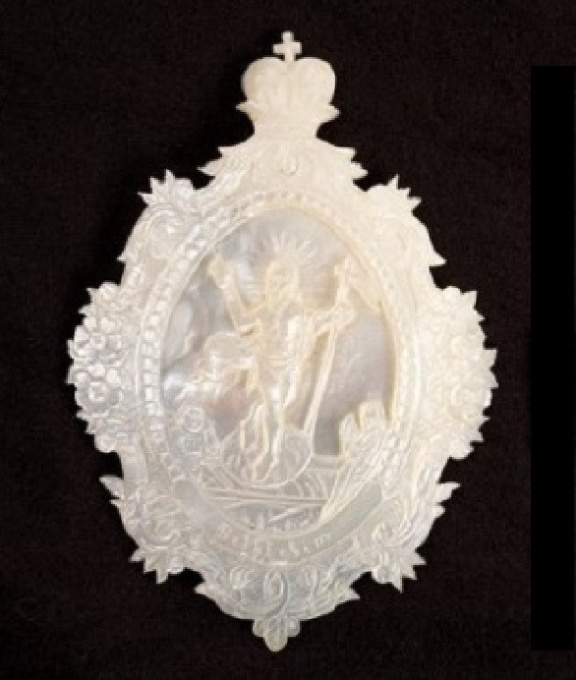 Two oval mother of pearl shells made in Bethlehem  by Unknown Artist