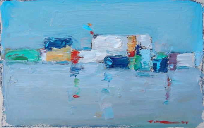 Schepen op zee by Adrie Mouthaan