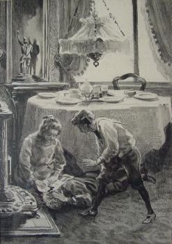 Original illustration of Sluijters for the book: 'Laura's opstel' by Jan Sluijters