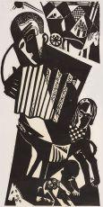 De harmonicaspeler by Tinus van Doorn