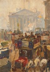 The Stock - Exchange, London by Isaac Israels