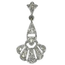 Platinum Art Deco diamond pendant by Unknown