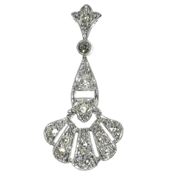 Platinum Art Deco diamond pendant by Unknown