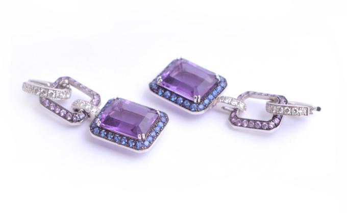 Amethist earrings by Artur Scholl