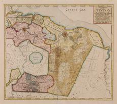 Nieuwe Kaart van het Baljuwschap van Gooyland by Tirion, Isaak (1705 - 1765)