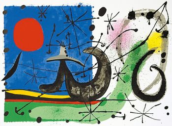 The Lizard with the Golden Feathers by Joan Miró