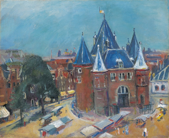 The Nieuwmarkt in Amsterdam, with the Waag by Jan Wiegers