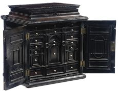 A fine rosewood and ebony table cabinet
