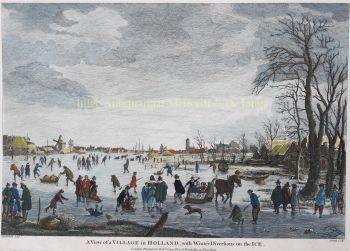 Dutch winter scene, after Aert van der Neer by Unknown Artist