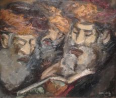 Three Reading Rabbis by Emmanuel Mané-Katz
