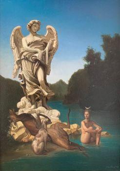Atteono e Diana by Giovanni Tommasi Ferroni