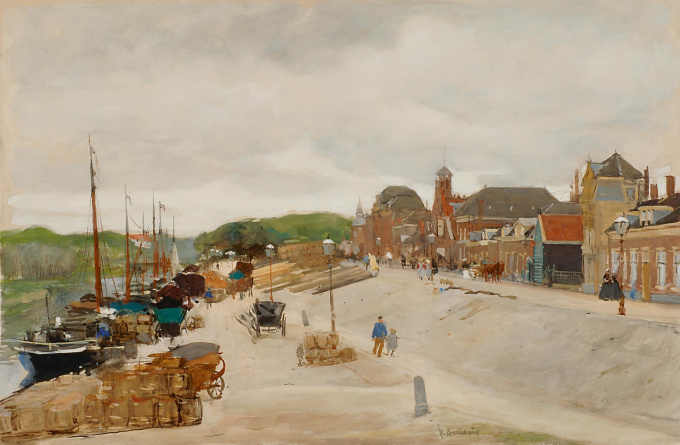A view of the Haringkade, Scheveningen by Floris Arntzenius