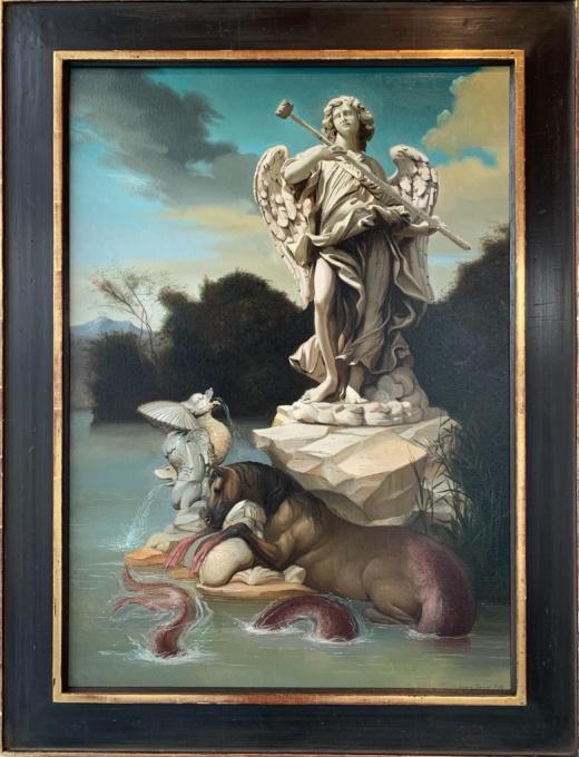 Tritone e nettuno by Giovanni Tommasi Ferroni