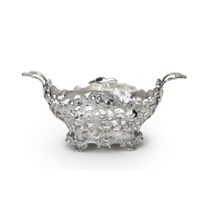 Dutch silver basket by Steven Jan van Hengel