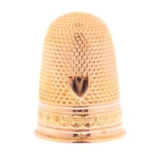 Antique Dutch Southern Netherlands Belgian gold thimble by Unknown